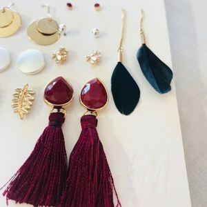 H&M 8 earring set!